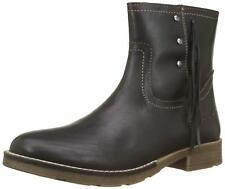 KICKERS MOLLY NOIR Bottes Bottines Cuir Enfants Filles Black Boots Shoes