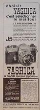 PUBLICITÉ APPAREIL PHOTO YASHICA LE PRESTIGIEUX J5 SELECTIONNER LE MEILLEUR