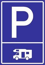 paf0094 Camping-car PVC, Aludibond, Autocollant, Panneaux de stationnement