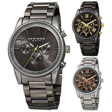 Men's Akribos XXIV AK912 Swiss Quartz Day Date Stainless Steel Bracelet Watch