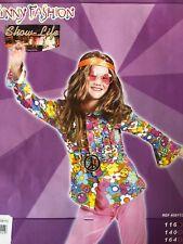 Kinder Hippie Hemd Kostüm Gr. 116, 164 Karneval Fasching