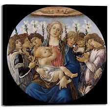 Botticelli Madonna bambino angeli quadro stampa tela dipinto telaio arredo casa