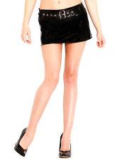 Honour Women's Belted Hipster Micro Skirt in PVC Black Rubber Fetish Wear