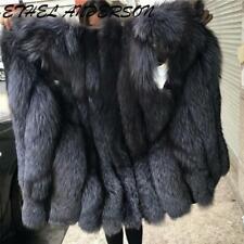 hot Vest Jacket Promotion Womens Farm Faux Fox Fur Coats Parkas Outwear sz warm
