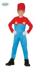 Costume vestito Super Mario, idraulico, Macchinista bambino, carnevale,  g8187