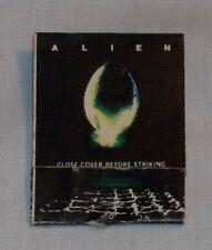 1979 ALIEN Movie Matchbook Giveaway Kenner PROMETHEUS Ridley Scott Covenant