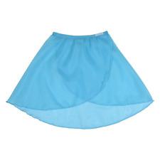 Marine / Aqua Girls chiffon/Georgette ballet wrap over skirt