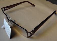 New Womens Thin Rectangular Metal Frame Burgundy Reading Glasses Clear Lens