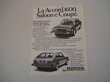advertising Pubblicità 1979 HONDA ACCORD SALOON/COUPE'