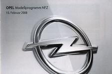 Opel NFZ Preisliste 15.2.08 Combo Vivaro Movano price list 2008 Auto PKWs Europa