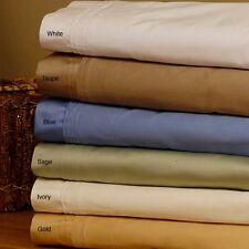 1200TC Soft Egyptian Cotton 6 pc Sheet set AU Sizes All Beautiful Solid Color
