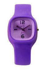 Eton Square Case Silicon Strap Fashion Watch - Vivid Neon Colours - 2815J