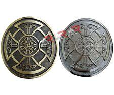 Round Celtic Knot Kilt Belt Buckle /Highland Belt Buckle Celtic Antique / Chrome