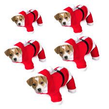 Pet Puppy Cat Dog Santa Claus Christmas Coat Costume Outfit Clothes Apparel Suit