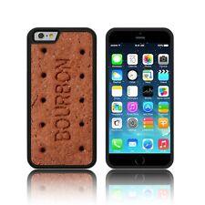 TPU Silicona Negra Bourbon Galleta caso para Apple iPhone Modelos cáscara de la cubierta