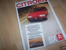 Catalogue / Brochure CITROEN BX (inclus GTI 16V) 1987 //