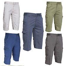 NEW MENS CASUAL CARGO COMBAT SHORTS 3/4 SUMMER POCKET COTTON CHINO HALF PANTS