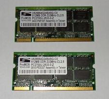 2 x 512mb 1gb memoria Dell Latitude c840 d600 d500 d800 Inspiron 8200 4150 2650