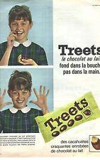 PUBLICITE 1965   TREETS bonbons à la cacahuète et au chocolat