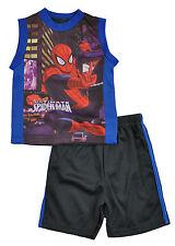 Spider-Man Bebé Niño Azul & multicolor 2pc short set Talla 12meses 18m 24m