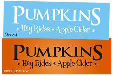 "12"" Designs Joanie STENCIL Pumpkin Hay Ride Apple Star Country Prim Market Fall"
