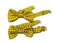 Papillon bambino giallo a pallini blu in seta per bimbi piccoli e grandi scelta