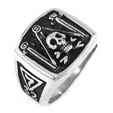 Masonic rings ebay 32nd Degree Masonic Skull Pillars Square & Compass Freemason