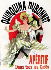 """1980 Vintage /""""QUINQUINA DUBONNET/"""" APERITIF by CHERET MINI POSTER Art Lithograph"""