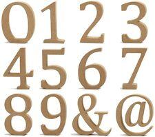 Holzzahlen Holz Zahlen 0 1 2 3 4 5 6 7 8 9 & @ - MDF - Höhe 13 cm, Dicke 2 cm