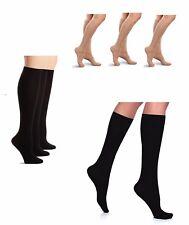 Women's Opaque Knee Highs Ladies 70 Denier Super Soft Trouser Socks  3 Pair -G