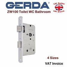 Gerda High Quality Bathroom Toilet WC Mortice Door Lock Silver ZW100