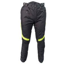 RICHA Colorado NERO IMPERMEABILE MOTOCICLETTA pantaloni neri fluo CORTO