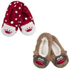Foxbury Ladies Christmas Themed Grippy Slipper Socks