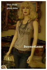 Haute Boho Women Fashion Tan Cotton Embellished Studs Shirt Tank Tee Top S M L