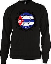 Cuba Flag Soccer Ball Futbol Leones Del Caribe Team Colors CUB CU Men's Thermal