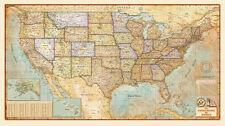 Antique Style *United States* USA Wall Map (3 Sizes) ...Laminated