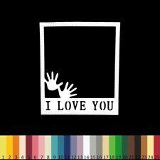 2 Découpes en papier _ CADRE LOVE POLAROID 10x8,5cm _ Die cut scrapbooking carte