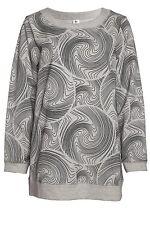 Nanso Tunika Sweat-Shirt Sweater Longshirt Gr. M L XL XXL Langarm Rundhals