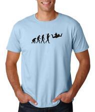 Hot4TShirts Evolution Skydiving Airplane Jump Skydive Parachute T-Shirt For Men