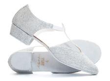 Ladies Silver Glitter Dance Greek Sandal Teaching Jive Ceroc Salsa Shoe By Katz