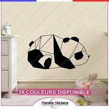 Stickers Panda Mignon Origami - Autocollant déco muraux, Design, ref4panda