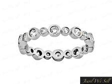 .45Ct Round Brilliant Diamond Alternating Eternity Band Ring 950 Platinum G SI1