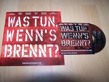 WAS TUN WENN´S BRENNT? - Presseheft + CD Til Schweiger