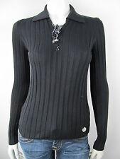 Liu.Jo Pullover Pullunder Shirt Sweater Polokragen Neu Nero S M