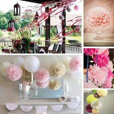 "1/10/100Pcs- 6"" Tissue Paper Pom Poms Flower Balls Hanging Decor Party Wedding"