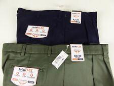 Roundtree Yorke Travel Smart Mens Dress Pants Expander Waist BIG TALL ~ 54 56 58