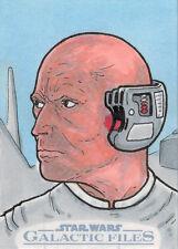 Star Wars Galactic Files Sketch Card by Russ Maheras of Lobot