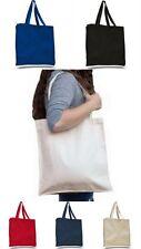 10 algodón pesado peso Bolso Para hombros de color las bolsas de compras Correa De Lona (libro De Bolsa)