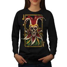 Joker Card Horror Skull Women Sweatshirt NEW | Wellcoda