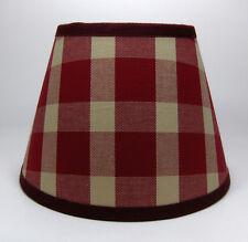 Country Waverly Cranberry Burgundy Liberty Plaid Fabric Lampshade Lamp Shade